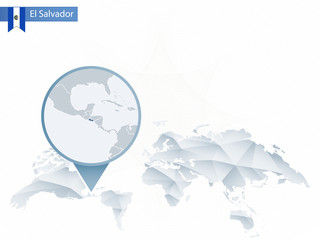 Buscar fotos san salvador abstract rounded world map with pinned detailed el salvador map gumiabroncs Gallery