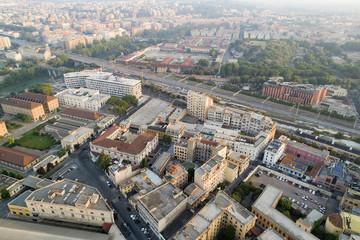 Foto aerea del quartiere della Garbatella a Roma
