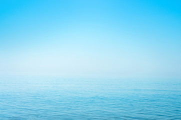 Wall Mural - sea blue surface, horizon, calm. background. Azov. Ukraine.