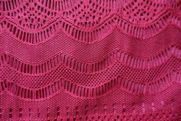 Lace with geometric pattern directly from above