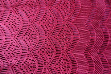 Lacy fabric with waves pattern from above