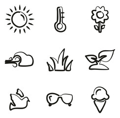 Spring Icons Freehand