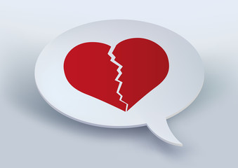 Cœur - amour - divorce - séparation, cœur brisé, chagrin d'amour, annoncer