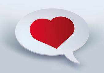 Cœur - amour - je t'aime - déclaration - bulle -amoureux - message