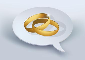 demande en mariage - mariage - marié - couple -alliance - amour - faire-part - bulle