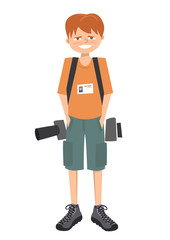 young photographer vector cartoon character