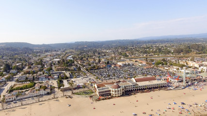 Santa Cruz, California. Beautiful aerial coastline