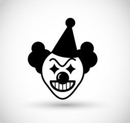 Spooky clown icon VECTOR