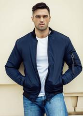 Handsome male model wear jacket