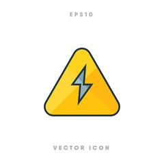 Electric alert icon vector