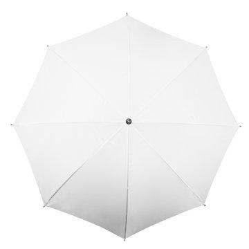 White umbrella on white background