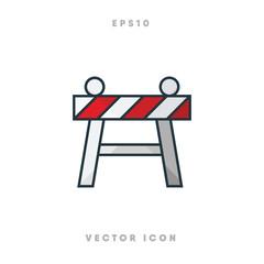 Barricade icon vector