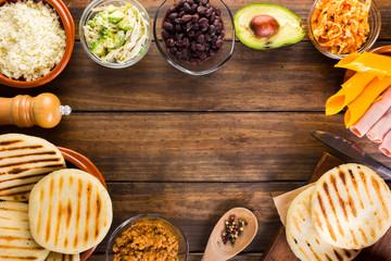 Arepas , Latin American food