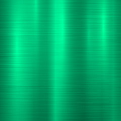 Fototapete - Green metal technology background with abstract polished, brushed texture, chrome, silver, steel, aluminum for design concepts, wallpapers, web, prints and posters. Vector illustration.
