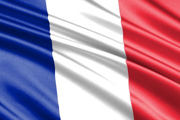 waving flag france
