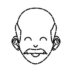old man with sunglasses cartoon icon vector illustration graphic design