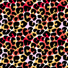 Seamless abstract wild exotic animal print.