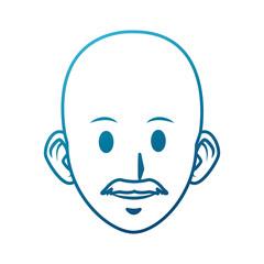 old man cartoon icon vector illustration graphic design