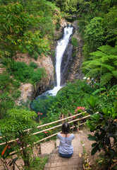 Gitgit waterfalls, surrounded by beautiful wild nature