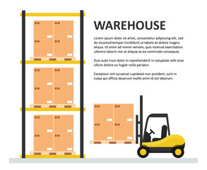 Warehouse background template