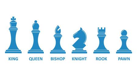 Chess piece name set