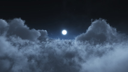 Night clouds fly