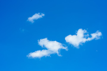Beautiful Sky with white cloud on blue sky background, In day time.