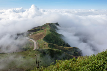 Landscape mist and beautiful mountain scenery in Phutabberk Phetchabun, Thailand