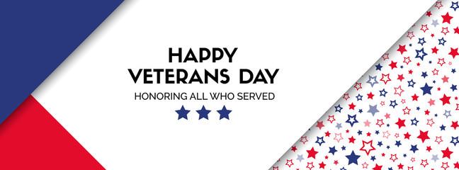 Vector banner for veterans day. Facebook size