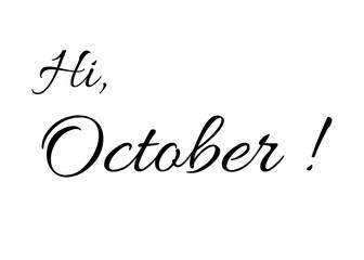"""Hi October!"" greeting card"