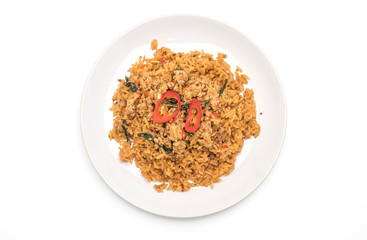 spicy fried rice with pork and basil