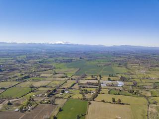 campos de chillán (panoramica aérea) con drone TomaAerea.cl