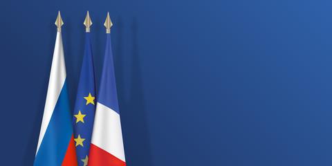 drapeau - Russie - France - Europe - Français - Russe - européen - présentation