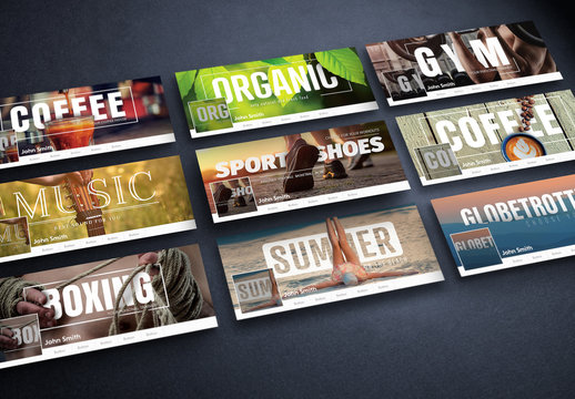 9 Fitness and Lifestyle Social Media Banner Layouts 1