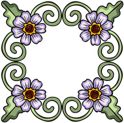 Flower floral frame