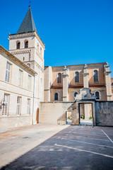 Dans la cour du Musée Goya à Castres