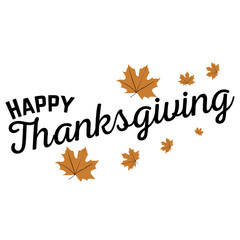 Happy thanksgiving day graphic design, Vector illustration