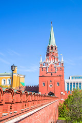 Trinity Tower in Moscow Kremlin, Russia