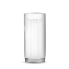 Realistic glass, isolated on white background. Vector illustration.