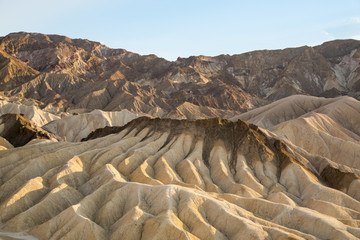 Zabriskie Point in Death Valley at Sunset