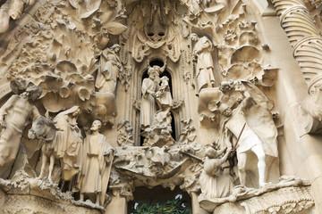Detail of Sagrada Familia, Barcelona , Spain