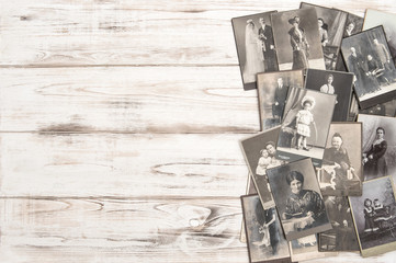 Old photo cards People wearing vintage clothing fashion dress