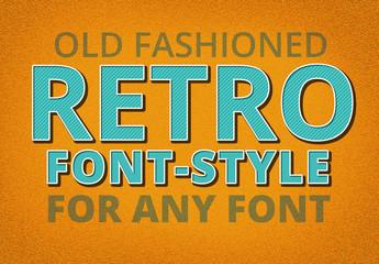 Retro Diagonally Striped Text Style