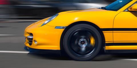 Sport car in motion