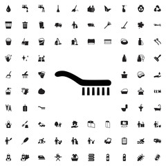 Brush icon. set of filled cleaning icons.