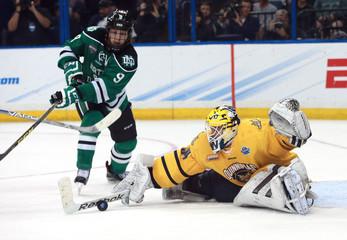 NCAA Hockey: Frozen Four-Quinnipiac vs North Dakota