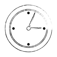 time clock isolated icon