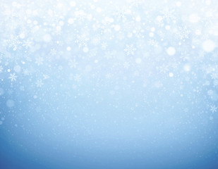 Iced blue winter background