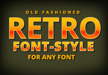 Retro Lined Gradient Text Style