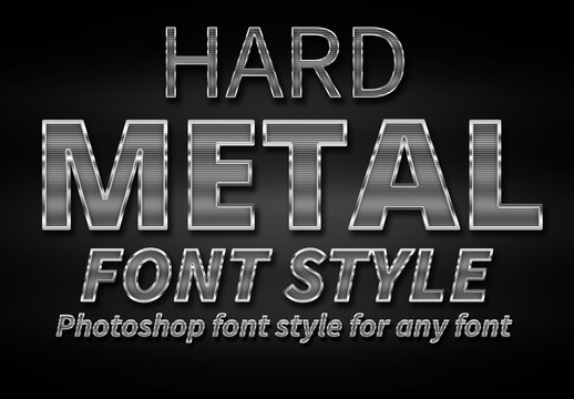 Hard Metal Text Style